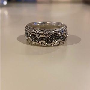 David Yurman Size 10 black diamond men's ring